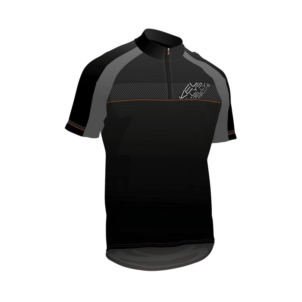 Cyklistický dres KELLYS PRO SPORT čierno-oranžová - S
