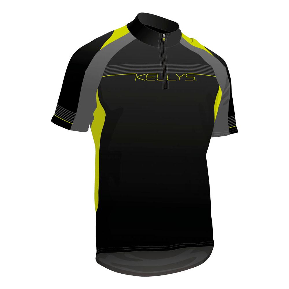 Cyklistický dres KELLYS Pro Sport - krátky rukáv limetková - L