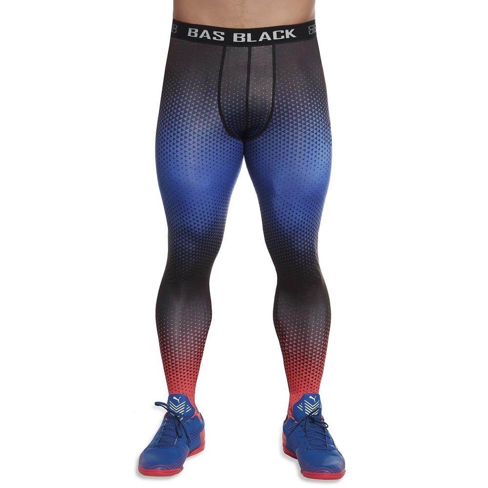 Pánské sportovní legíny BAS BLACK Quantum modro-červená - M