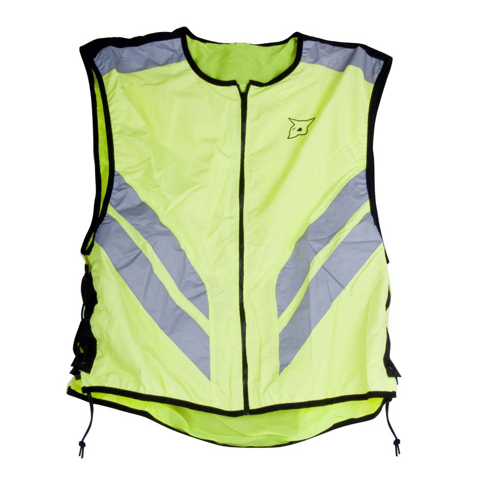 Univerzálna motocyklová vesta Rebelhorn reflexná zelená - M