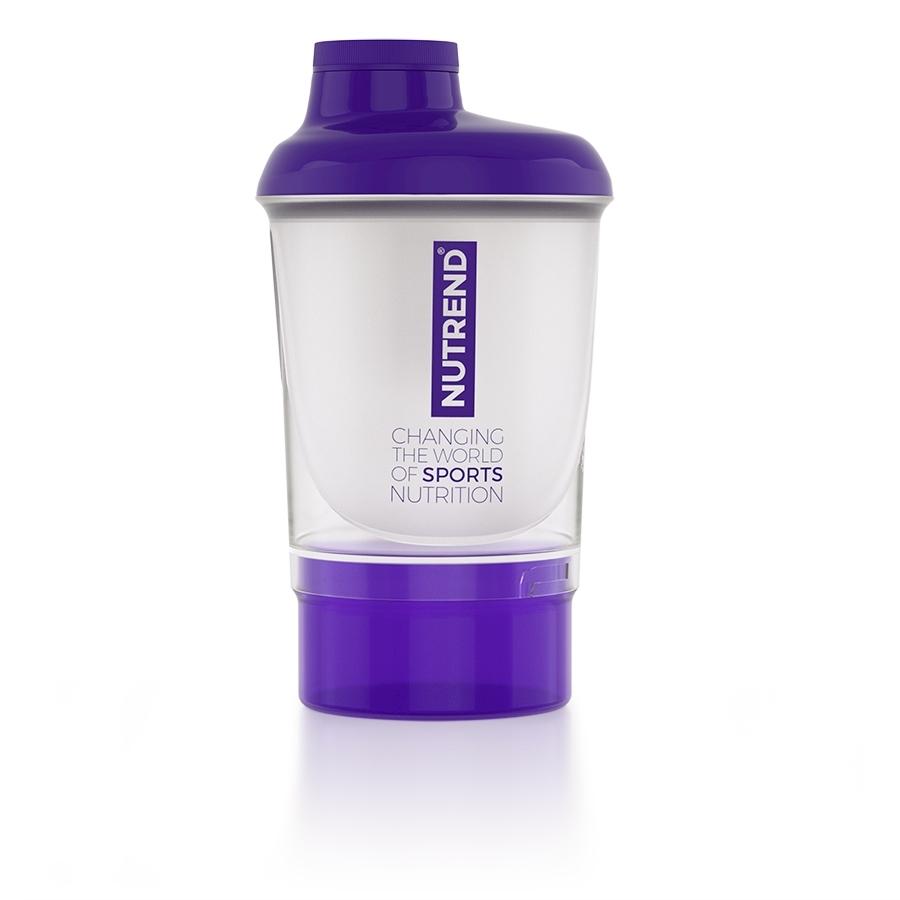 Shaker Nutrend so zásobníkom 300 ml fialová