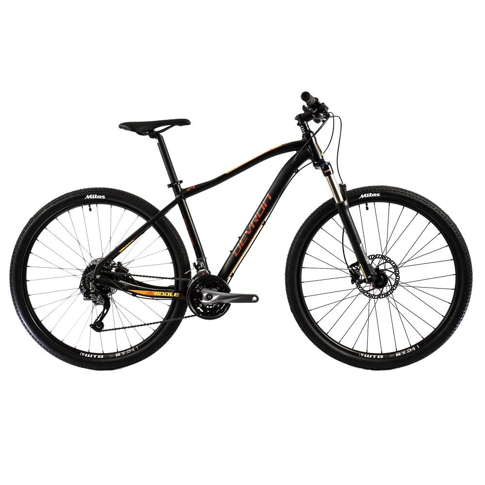 "Horský bicykel Devron Riddle H2.9 29"" - model 2018 Black - 21"" - Záruka 10 rokov"