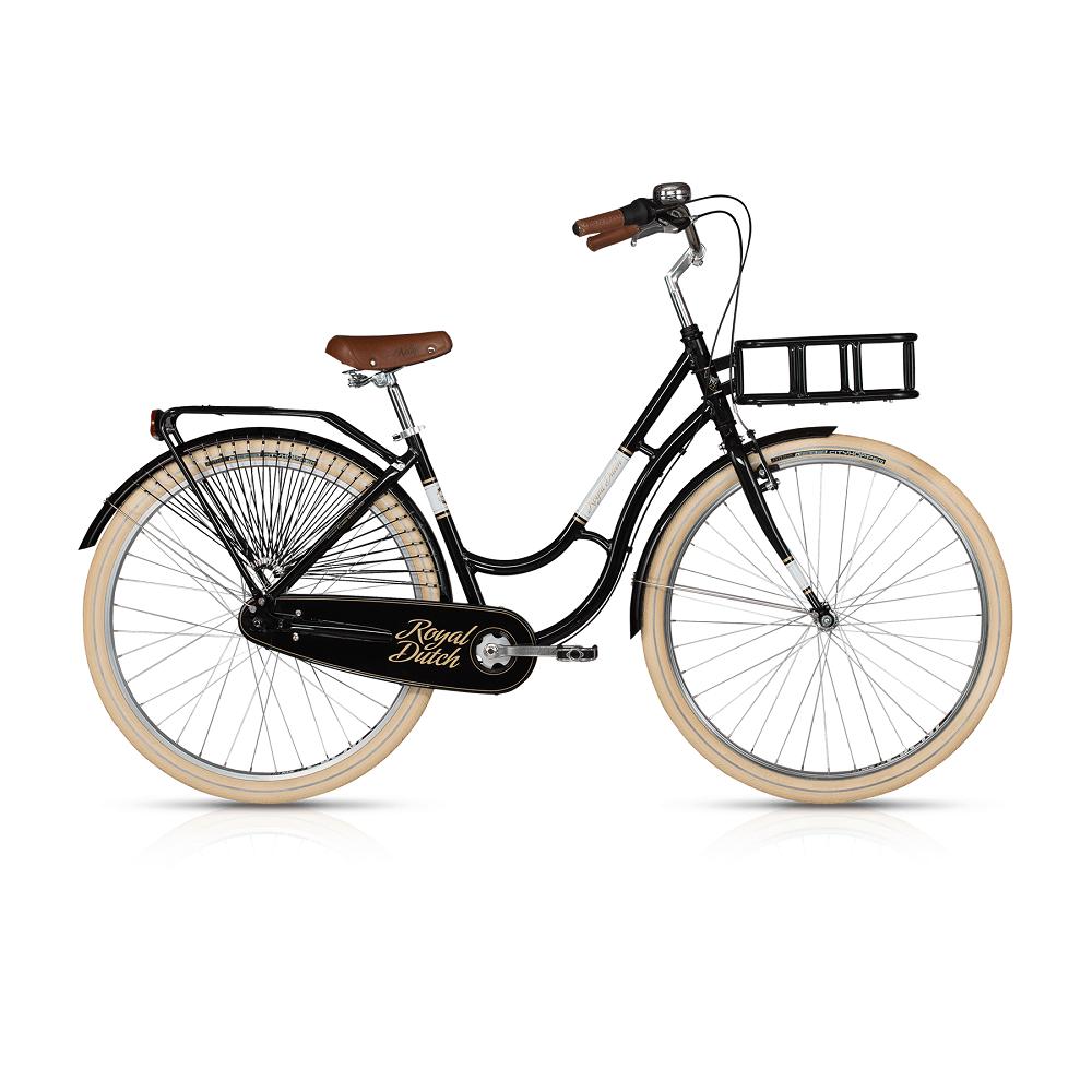 "Mestský bicykel KELLYS ROYAL DUTCH 28"" - model 2017 Black - 460 mm (18"") - Záruka 10 rokov"