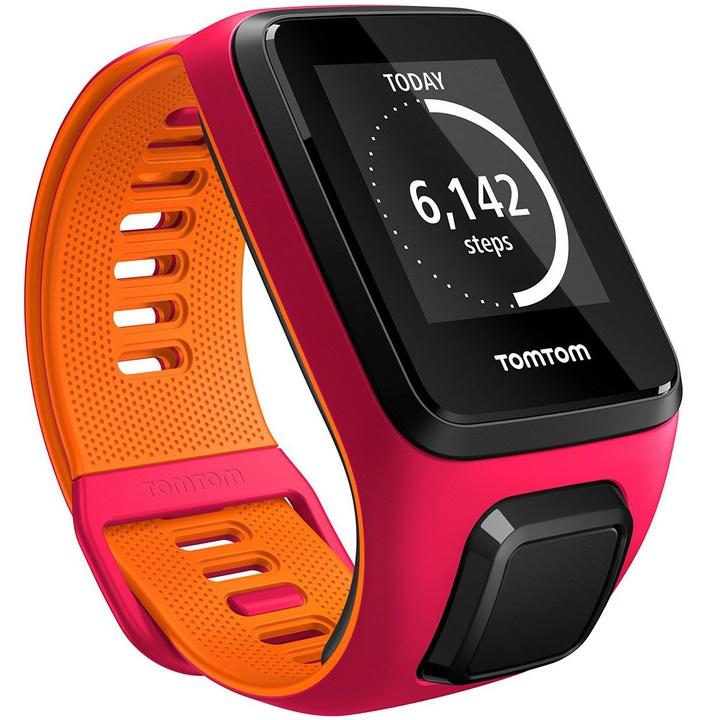 Sporttester TomTom Runner 3 - ružovo-oranžová