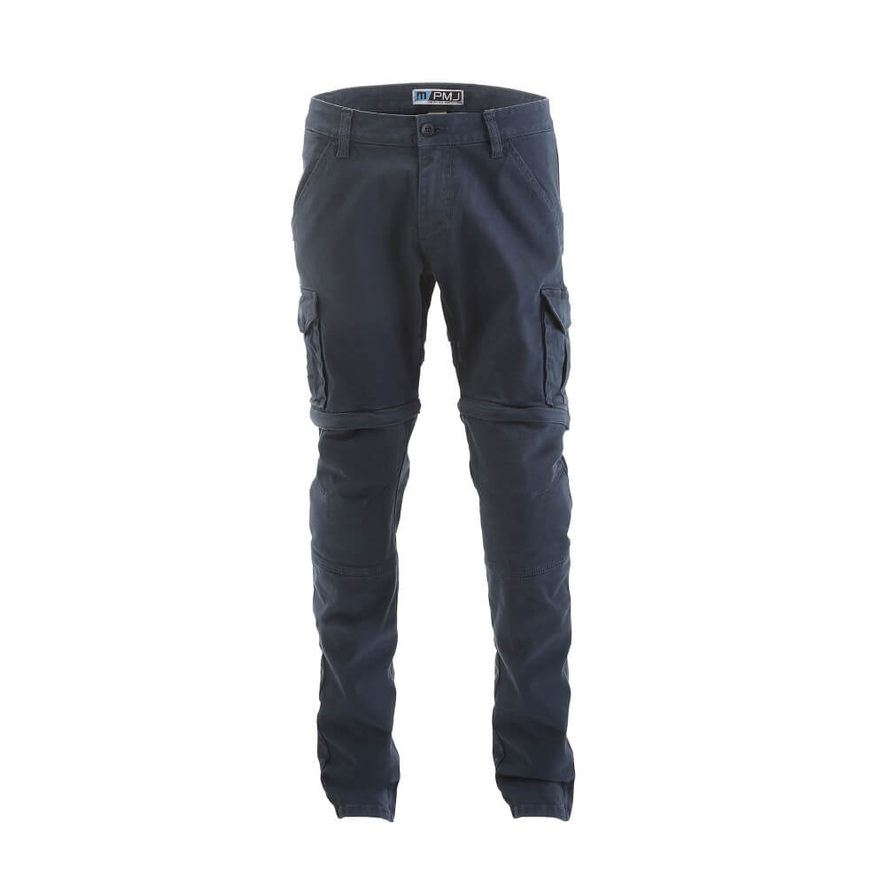 Pánske moto nohavice PMJ Santiago Zip modrá - 36