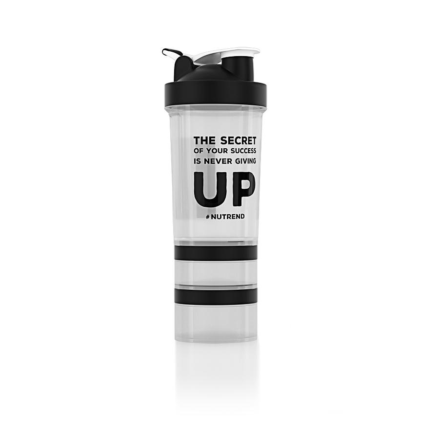 Shaker Nutrend s dávkovačom 450 ml+ priehľadná