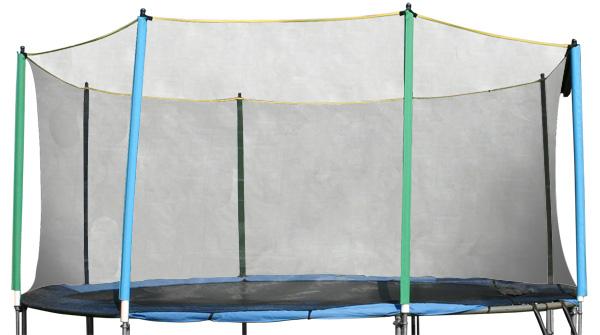 Ochranná sieť bez tyčí k trampolínam 366 cm - na 8 tyčí