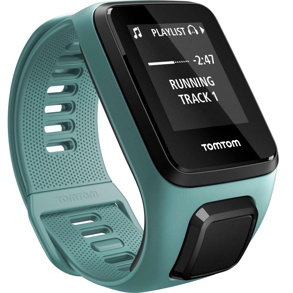 GPS hodinky TomTom Spark 3 Cardio + Music Aqua - S (121-175 mm)