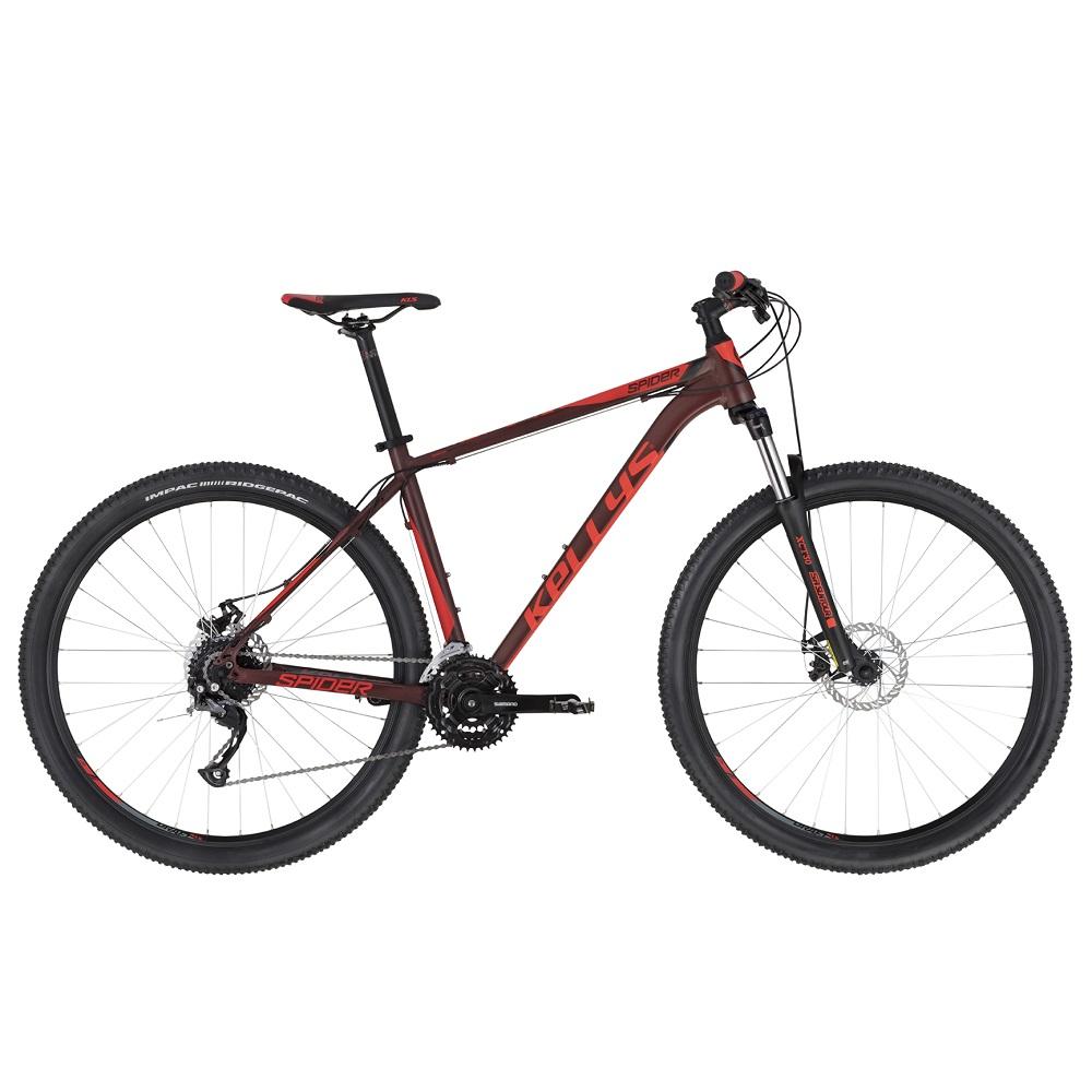 "Horský bicykel KELLYS SPIDER 10 29"" - Model 2020 Red - S (17'') - Záruka 10 rokov"