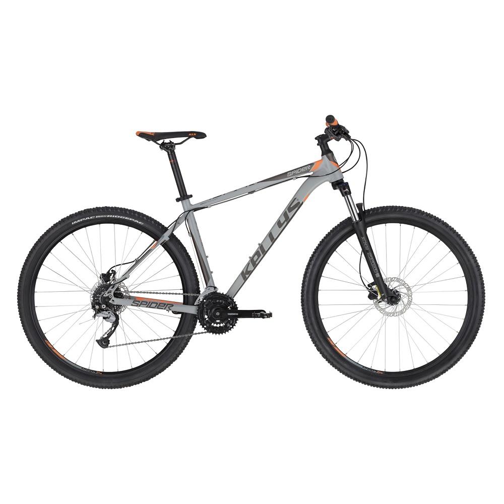 """Horský bicykel KELLYS SPIDER 30 27,5"""" - Model 2020 Grey Orange - XS (15"""") - Záruka 10 rokov"""
