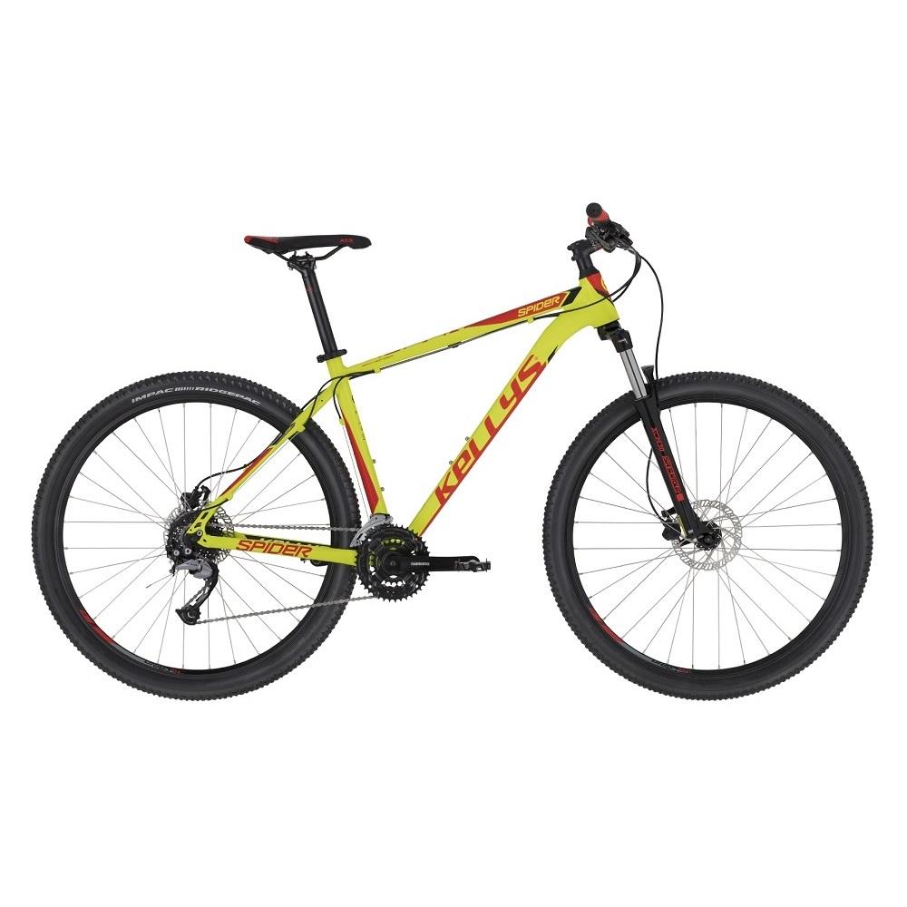 "Horský bicykel KELLYS SPIDER 30 27,5"" - Model 2020 Neon Lime - S (17'') - Záruka 10 rokov"
