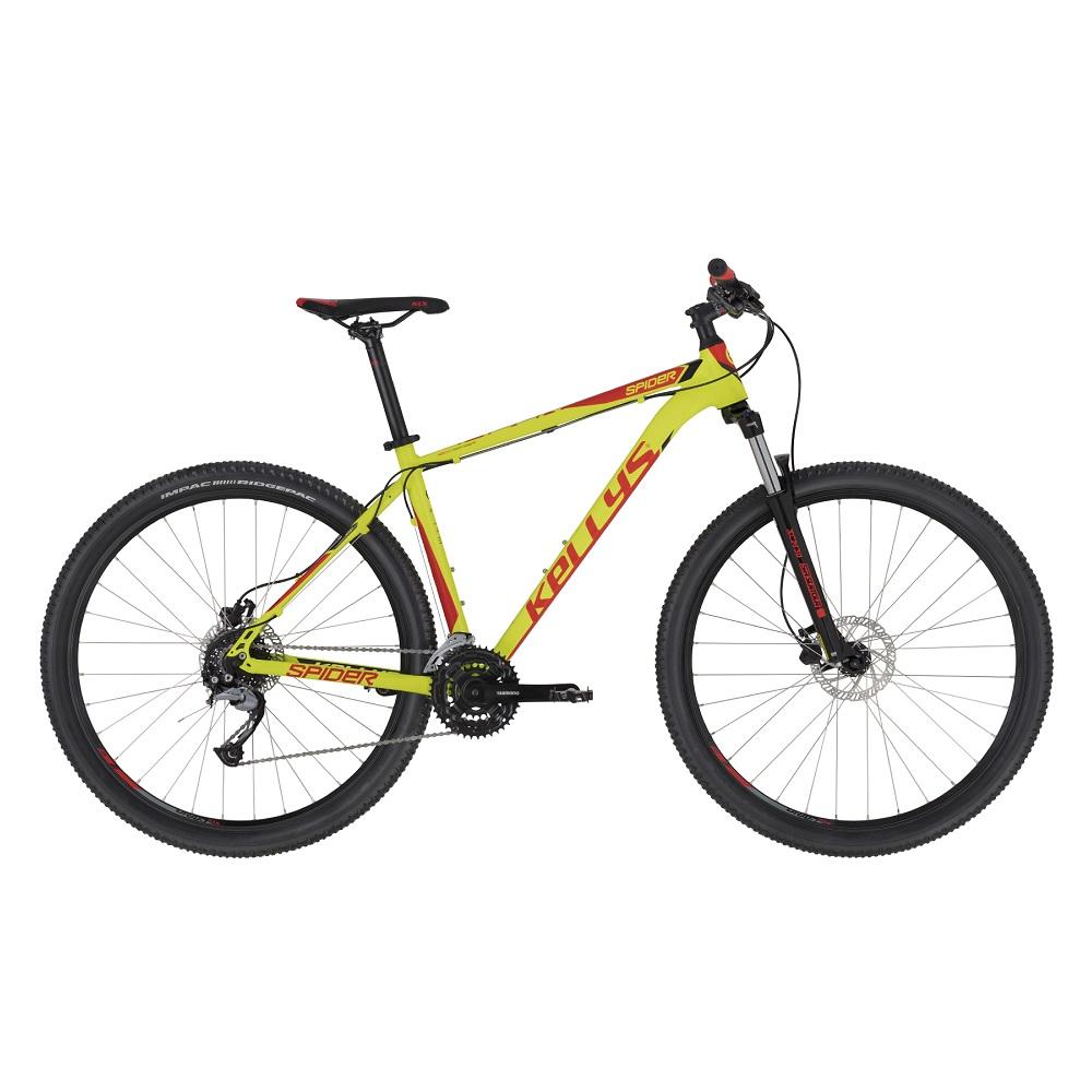 "Horský bicykel KELLYS SPIDER 30 29"" - Model 2020 Neon Lime - S (17'') - Záruka 10 rokov"