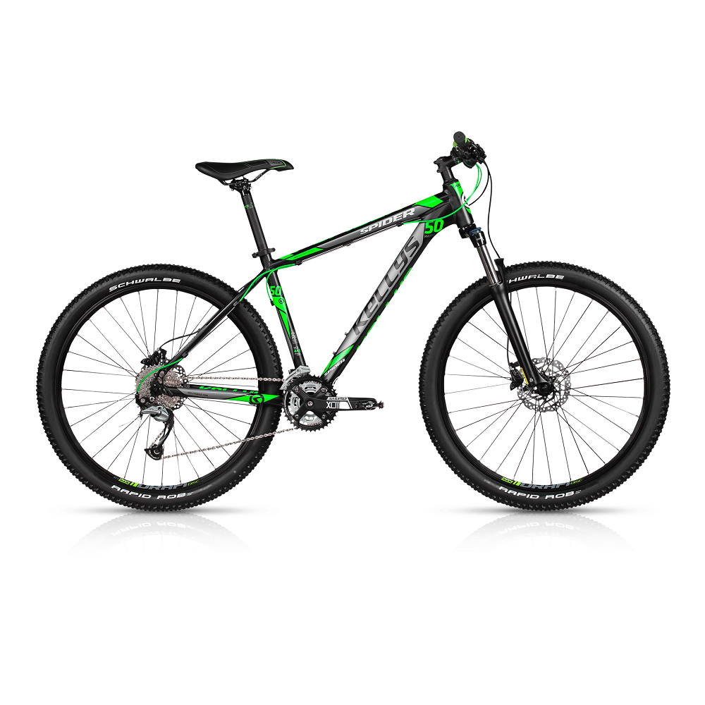"""Horský bicykel KELLYS SPIDER 50 27,5"""" - model 2017 445 mm (17,5"""") - Záruka 10 rokov"""
