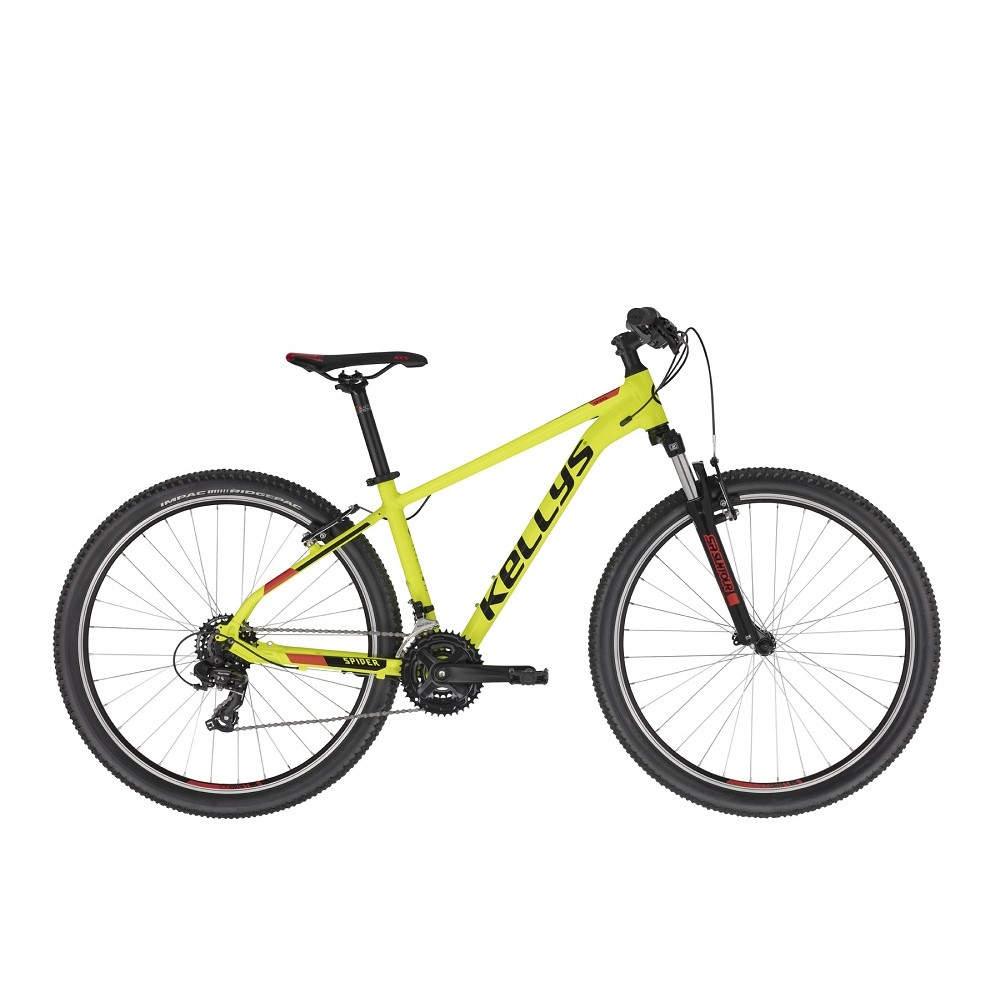 "Horský bicykel KELLYS SPIDER 10 27,5"" - model 2021 Neon Yellow - S (16.5"") - Záruka 10 rokov"
