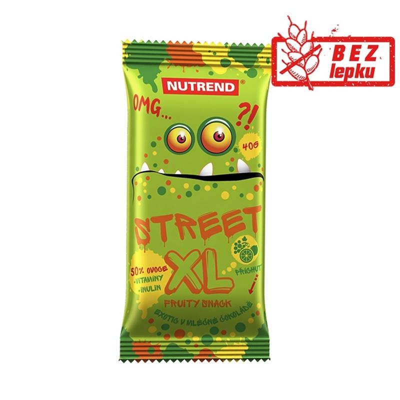 Tyčinka Nutrend Street XL Fruity 40g exotic s čokoládovou polevou