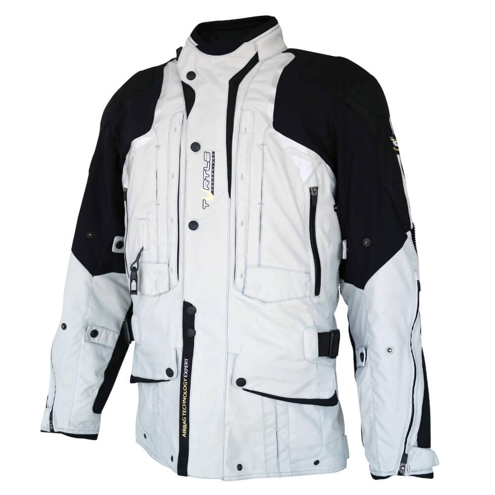 Airbagová bunda Helite Touring New textilná šedá svetlo šedá - S