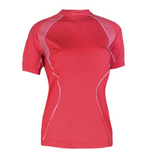 Dámske thermo tričko Brubeck s krátkym rukávom červená - L