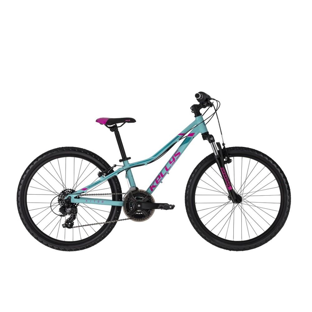 "Juniorský bicykel KELLYS KITER 50 24"" - model 2021 Turquoise - 11"" - Záruka 10 rokov"