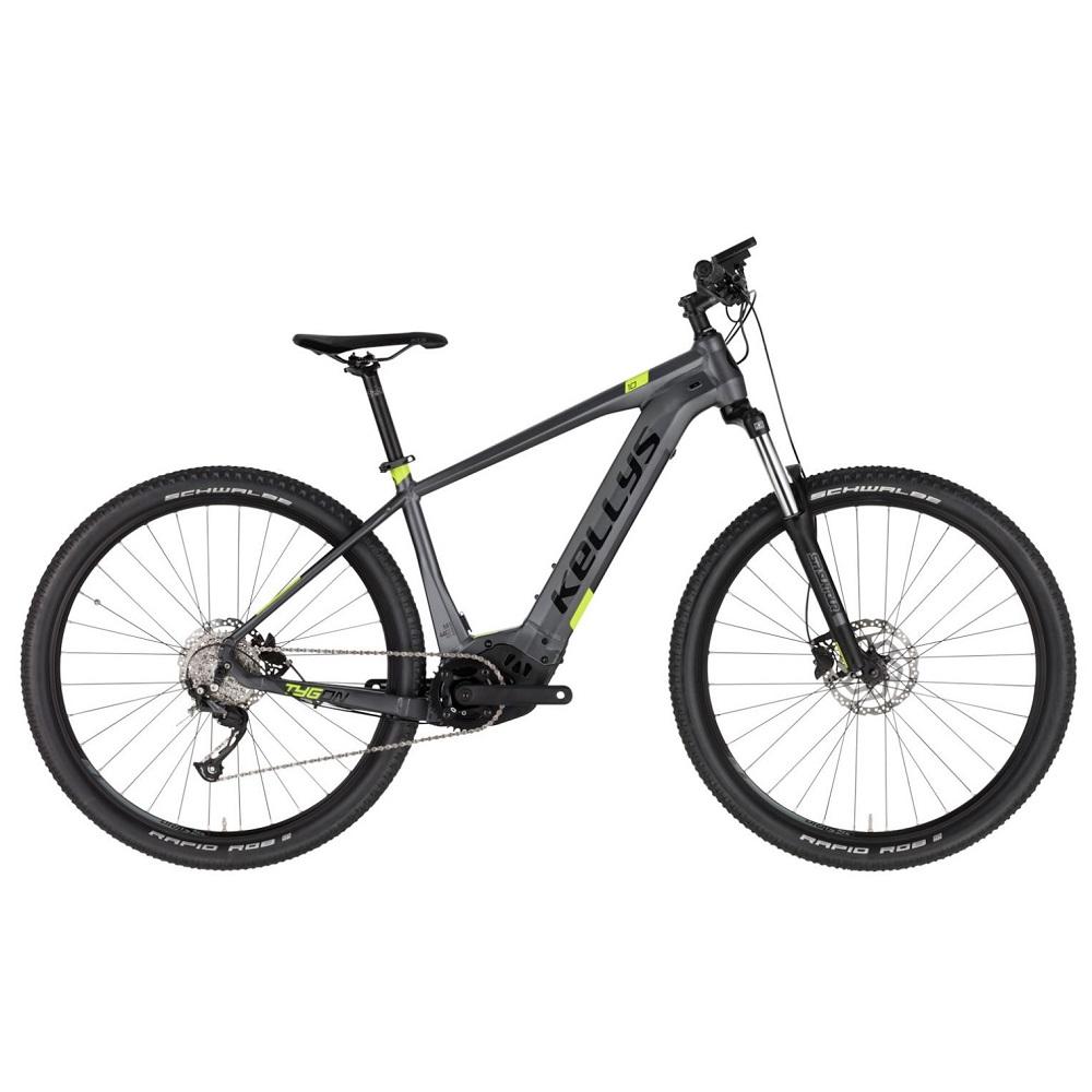 """Horský elektrobicykel KELLYS TYGON 10 29"""" - model 2021 Grey - M (17.5"""") - Záruka 10 rokov"""