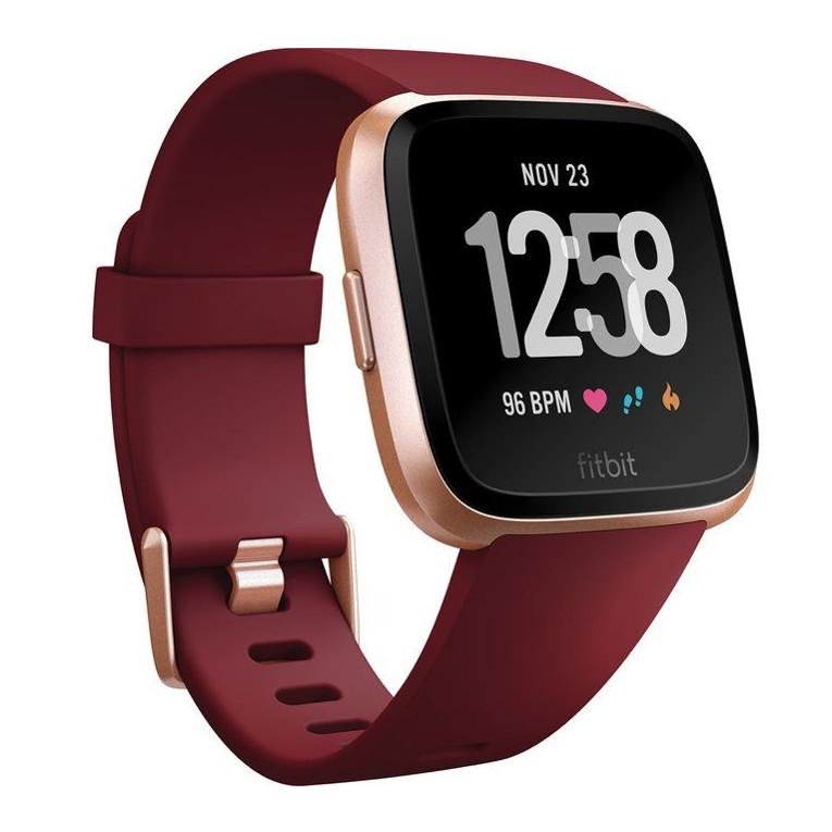 Inteligentné hodinky Fitbit Versa Merlot Band/Rose Gold Case
