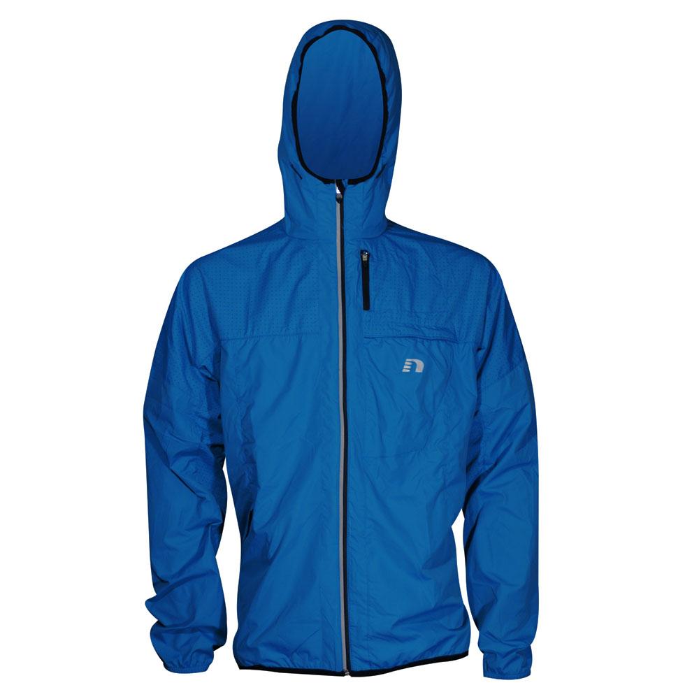 Pánska športová bunda s kapucňou Newline Imotion Wind Hoodie modro-čierna - S