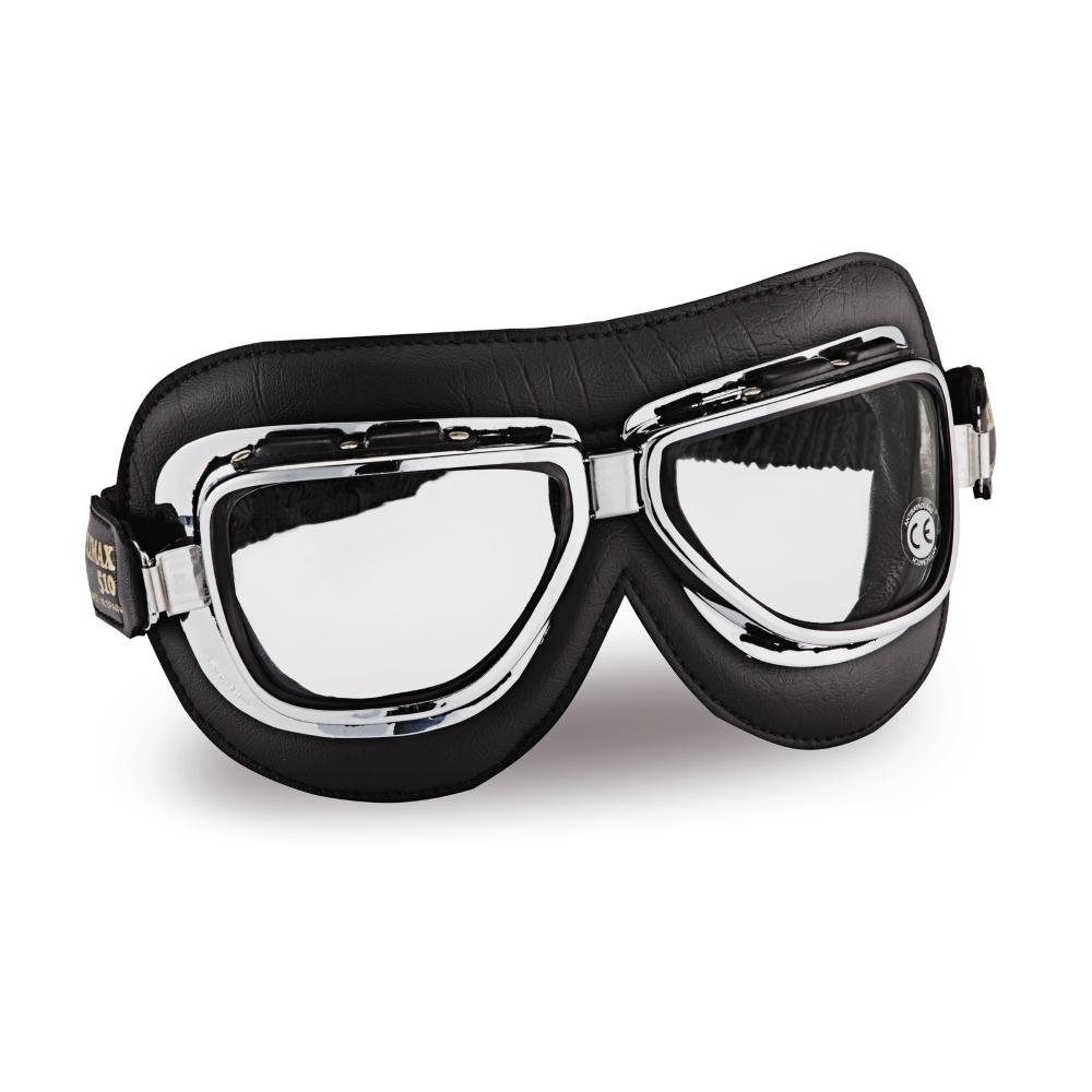 Vintage moto okuliare Climax 510, číre sklá