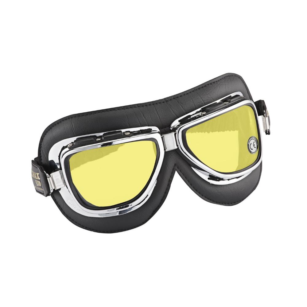 Vintage moto okuliare Climax 510, žlté sklá