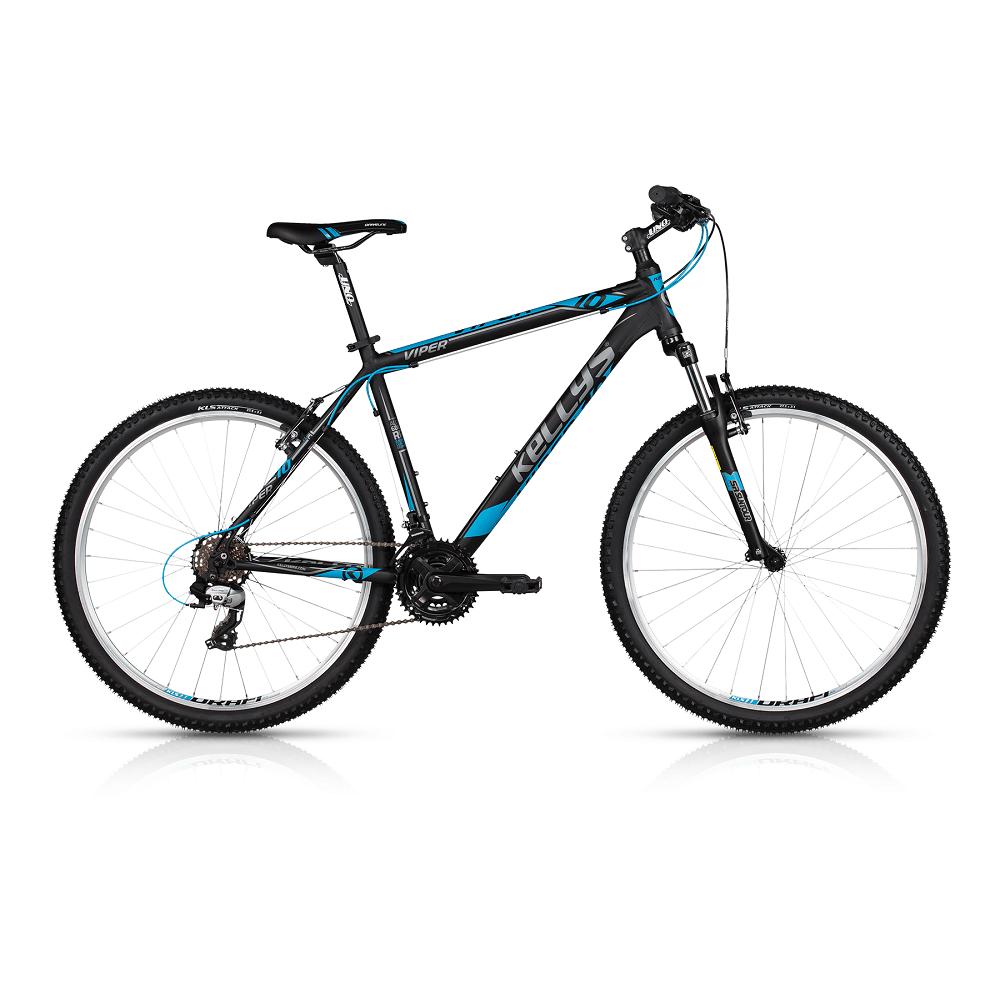 "Horský bicykel KELLYS VIPER 10 26"" - model 2017 Black Blue - 445 mm (17,5"") - Záruka 10 rokov"