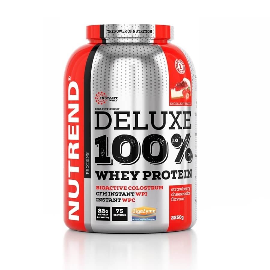 Práškový koncentrát Nutrend Deluxe 100% WHEY 2250g čokoláda+lieskový orech