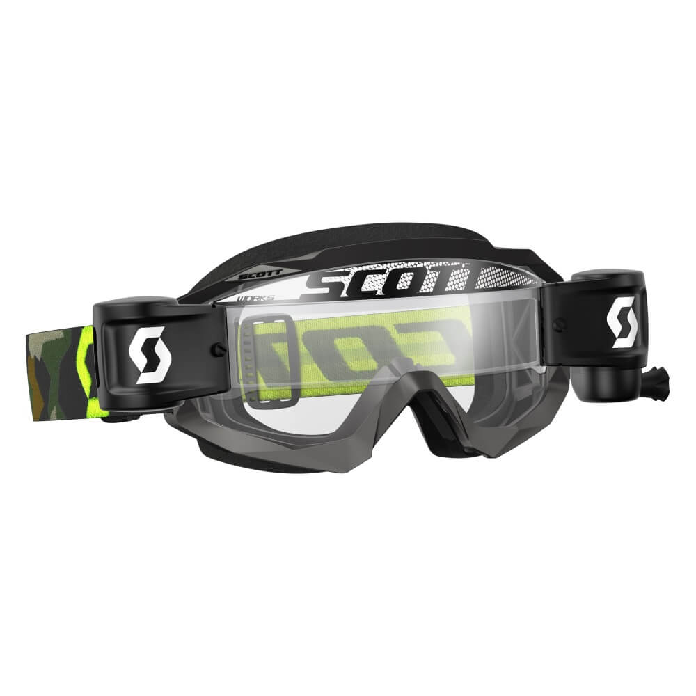 Moto okuliare SCOTT Hustle MXVII WFS grey-fluo yellow-clear