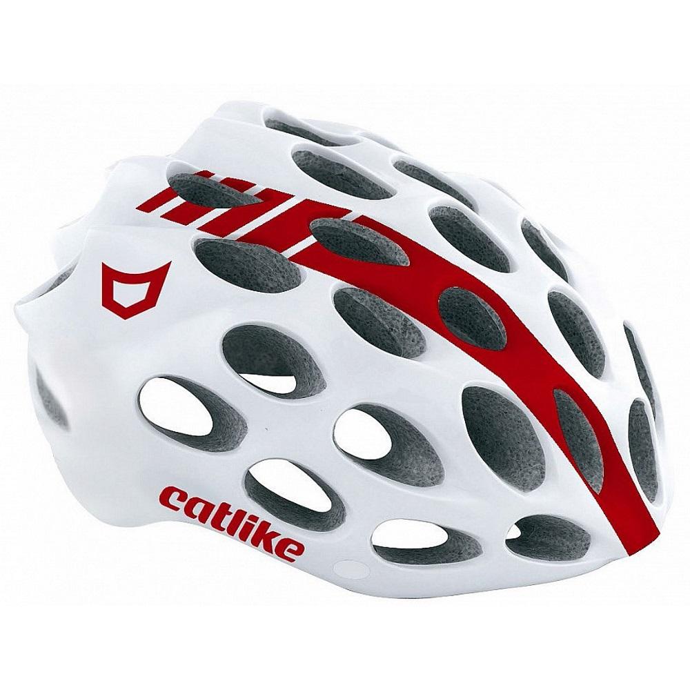 Cyklo prilba CATLIKE Whisper bielo-červená - LG
