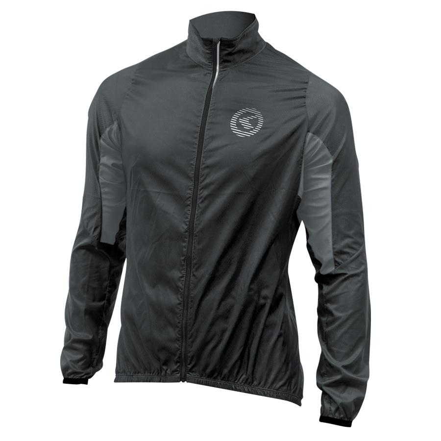 Unisex cyklistická bunda Kellys Wind Pack čierno-šedá - S