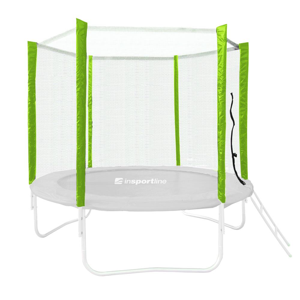 Ochranná sieť pre trampolínu inSPORTline Froggy PRO 305 cm - 6 tyčí zelená