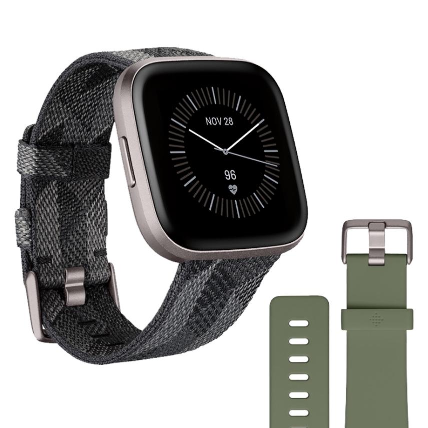 Inteligentné hodinky Fitbit Versa 2 Special Edition Smoke Woven