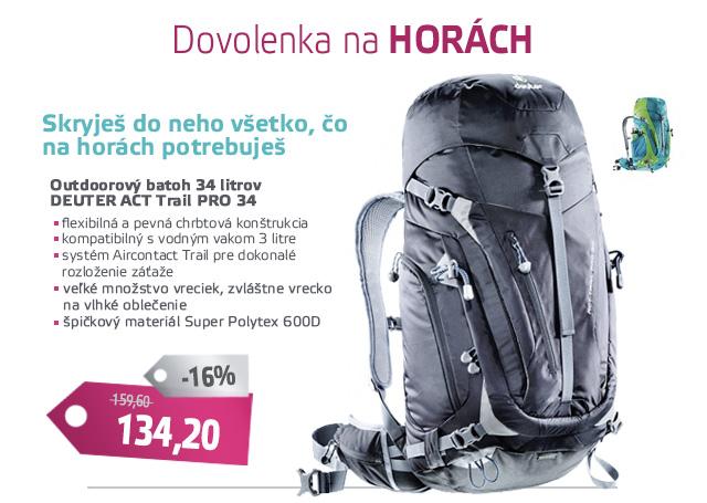Turistický batoh DEUTER ACT Trail PRO 34 2016 - AKCIA