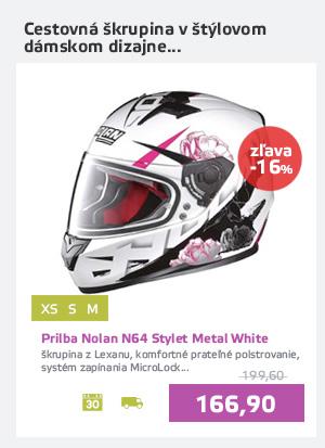 Moto prilba Nolan N64 Stylet Metal White
