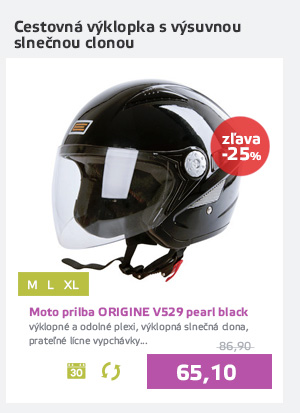 Moto prilba ORIGINE V529 pearl black - AKCIA - D