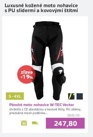 Pánske kožené moto nohavice W-TEC Vector