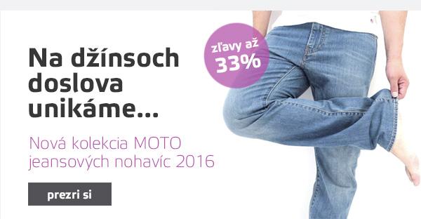 Jeansové moto nohavice