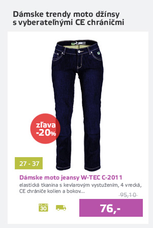 Dámské moto jeansy W-TEC C-2011 modré - AKCIA - D
