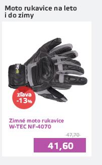 Zimné kožené/textilné moto rukavice W-TEC NF-4070