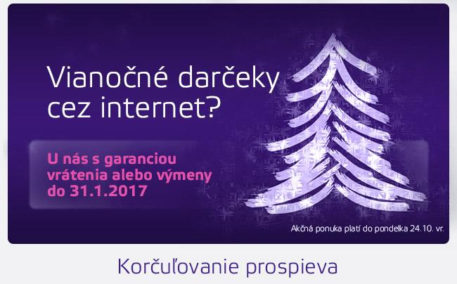 Vianočné darčeky cez internet? U nás s garanciou vrátenia alebo výmeny do 31.1.2017