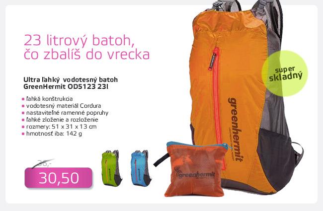 Vodotesný ultra ľahký batoh GreenHermit OD5123 23l - AKCIA