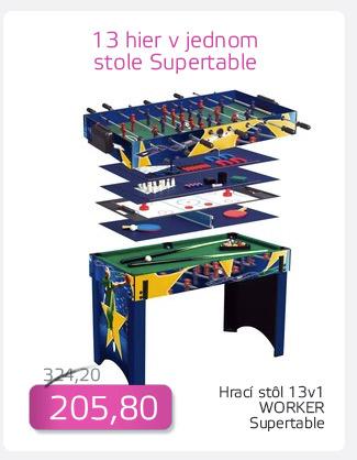 Hrací stôl 13 v 1 WORKER Supertable - AKCIA