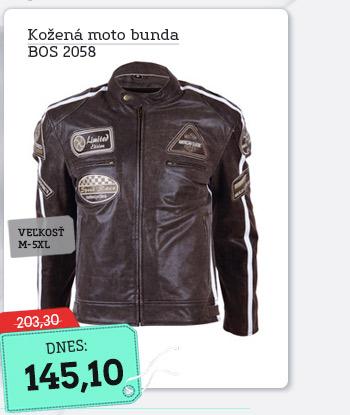 Kožená moto bunda BOS 2058 hnedá - AKCIA