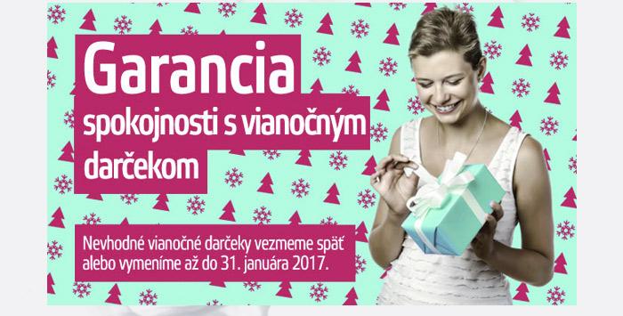 Vianočné darčeky cez internet s VIP garanciou do 31.1.2017