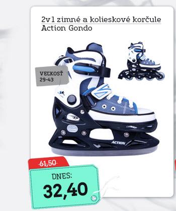 Chlapčenské korčule 2v1 Action Gondo - AKCIA